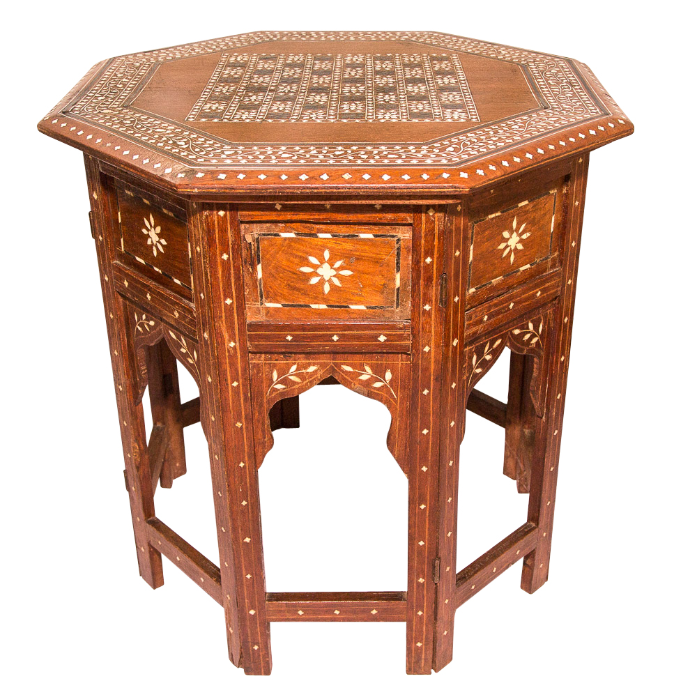 Octagonal side table on antique row west palm beach
