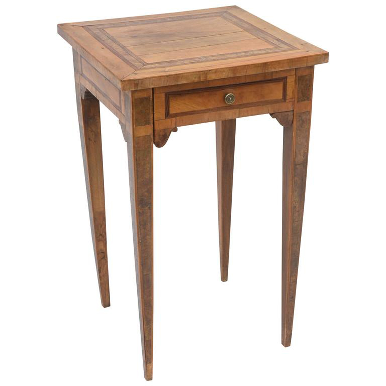 Northern italian 19th century olivewood accent table on for Table 52 west palm beach