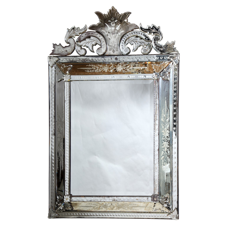 Etched Venetian Glass Mirror On Antique Row West Palm
