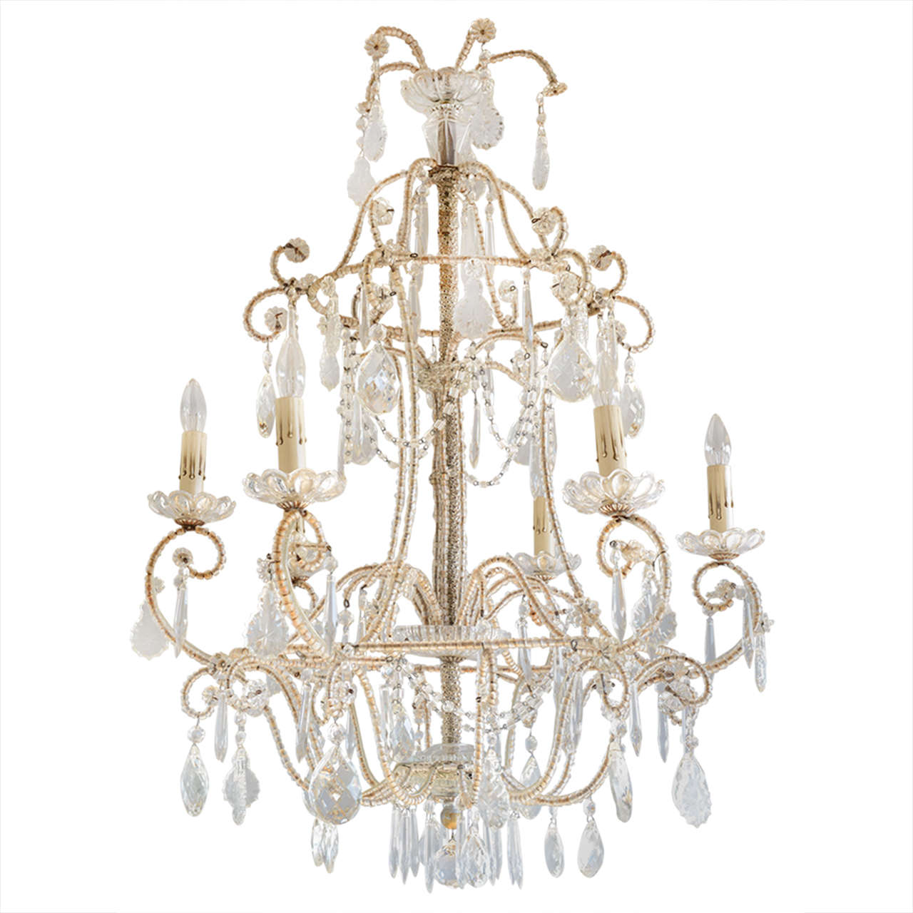 Italian maria theresa beaded chandelier on antique row west italian maria theresa beaded chandelier arubaitofo Choice Image