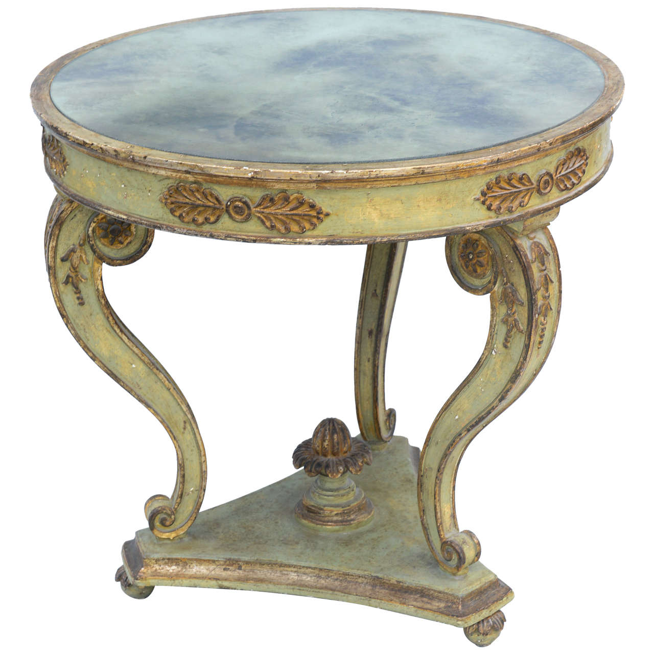 Italian Louis XVI Style Painted Center Table : On Antique ...