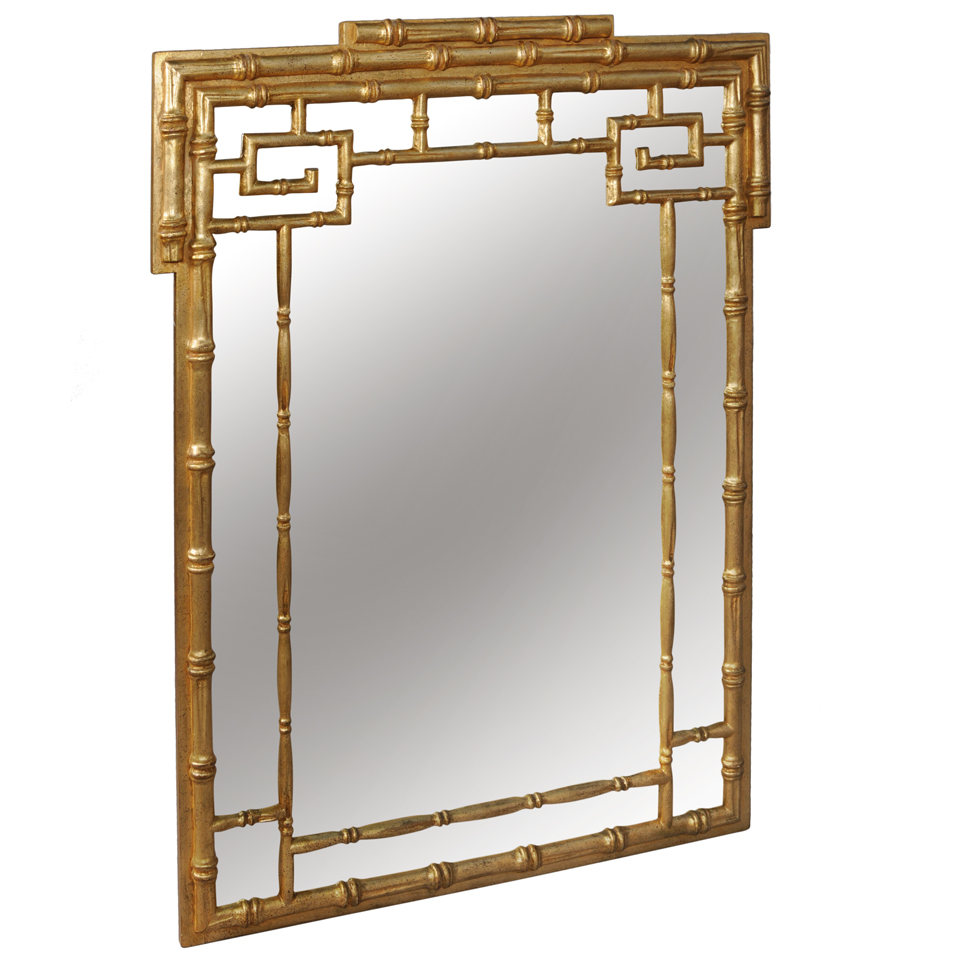 Faux Bamboo Fretwork Italian Mirror On Antique Row