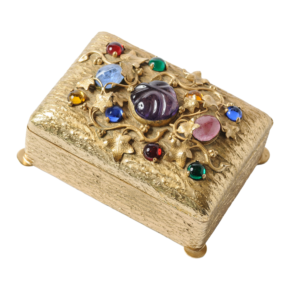 Napier Jeweled Top Jewelry Box On Antique Row West