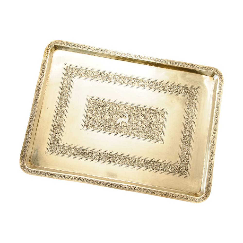 Large decorative vintage art deco style brass tray on antique row west palm beach florida - Style vintage deco ...