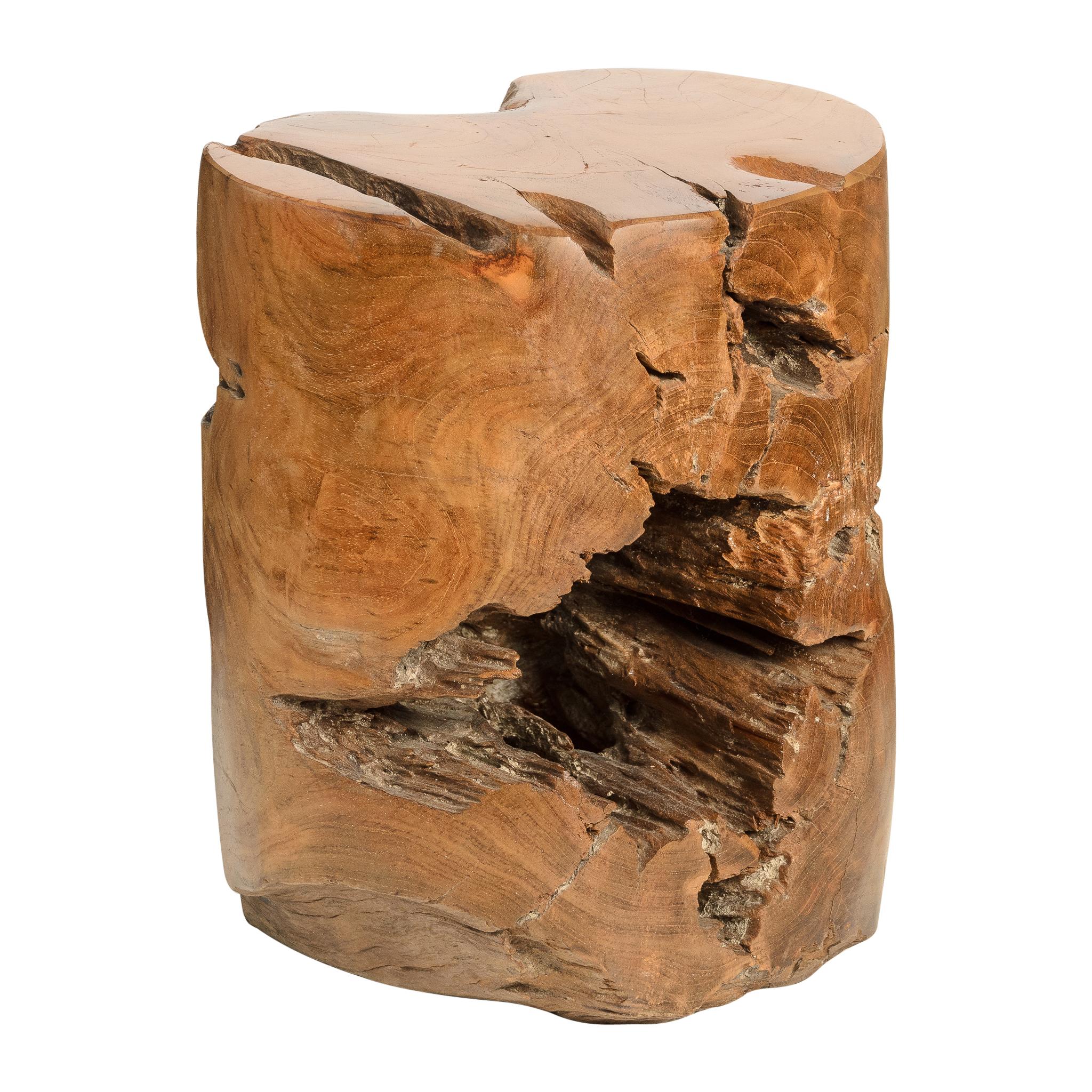 Astounding Solid Teak Garden Stool Side Table Decorative Sculptural Ncnpc Chair Design For Home Ncnpcorg