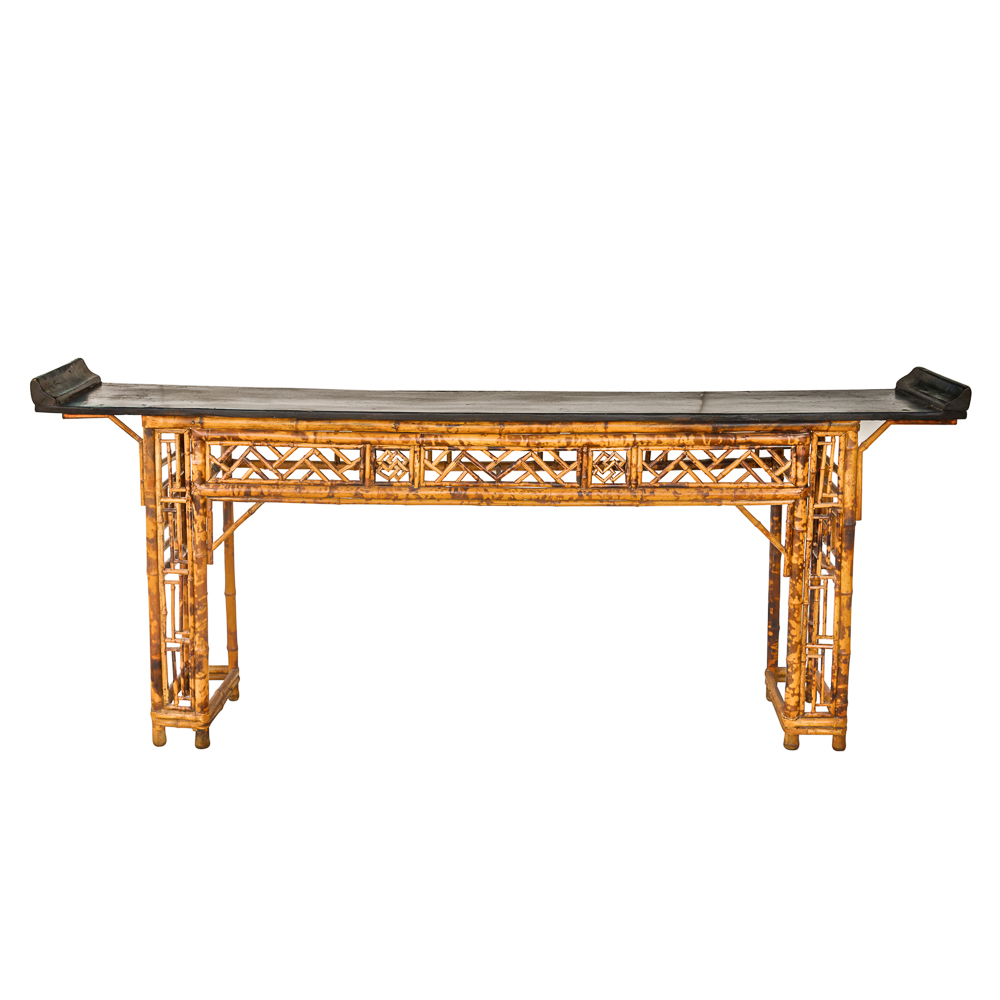 Antique bamboo altar or console table on antique row for Table 52 west palm beach