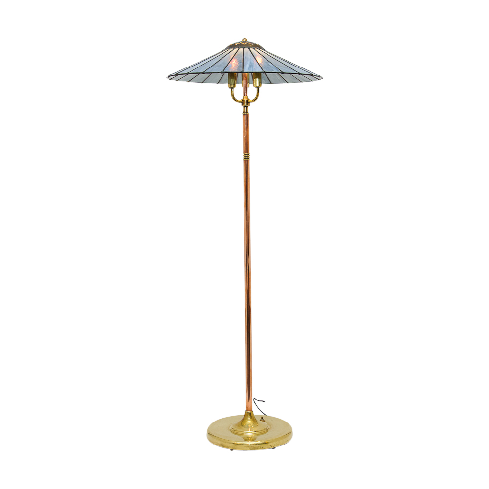 Craft Floor Lamps: Arts &Crafts Brass & Copper Floor Lamp : On Antique Row