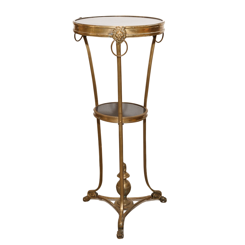 French antique side table in bronze on antique row for Table 52 west palm beach