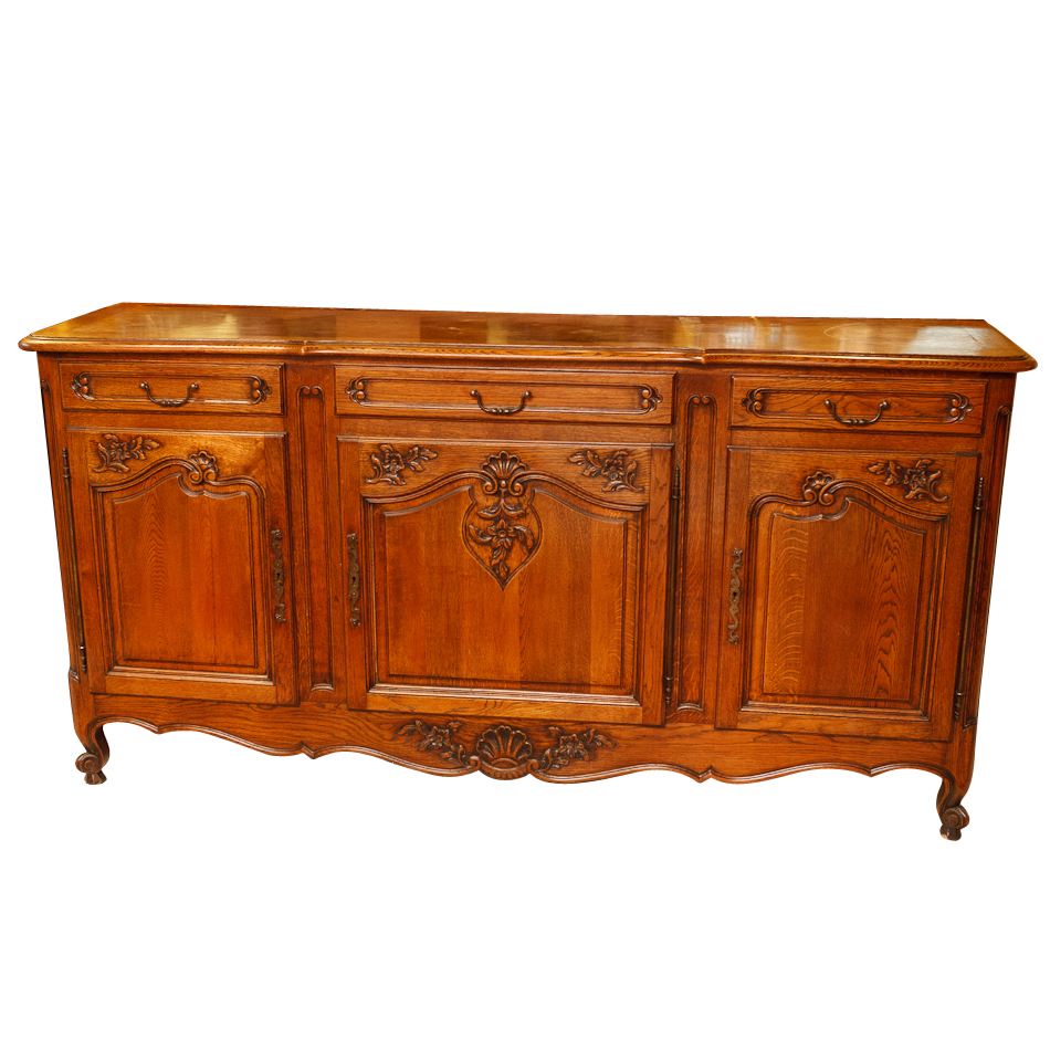french antique oak buffet on antique row west palm beach florida. Black Bedroom Furniture Sets. Home Design Ideas