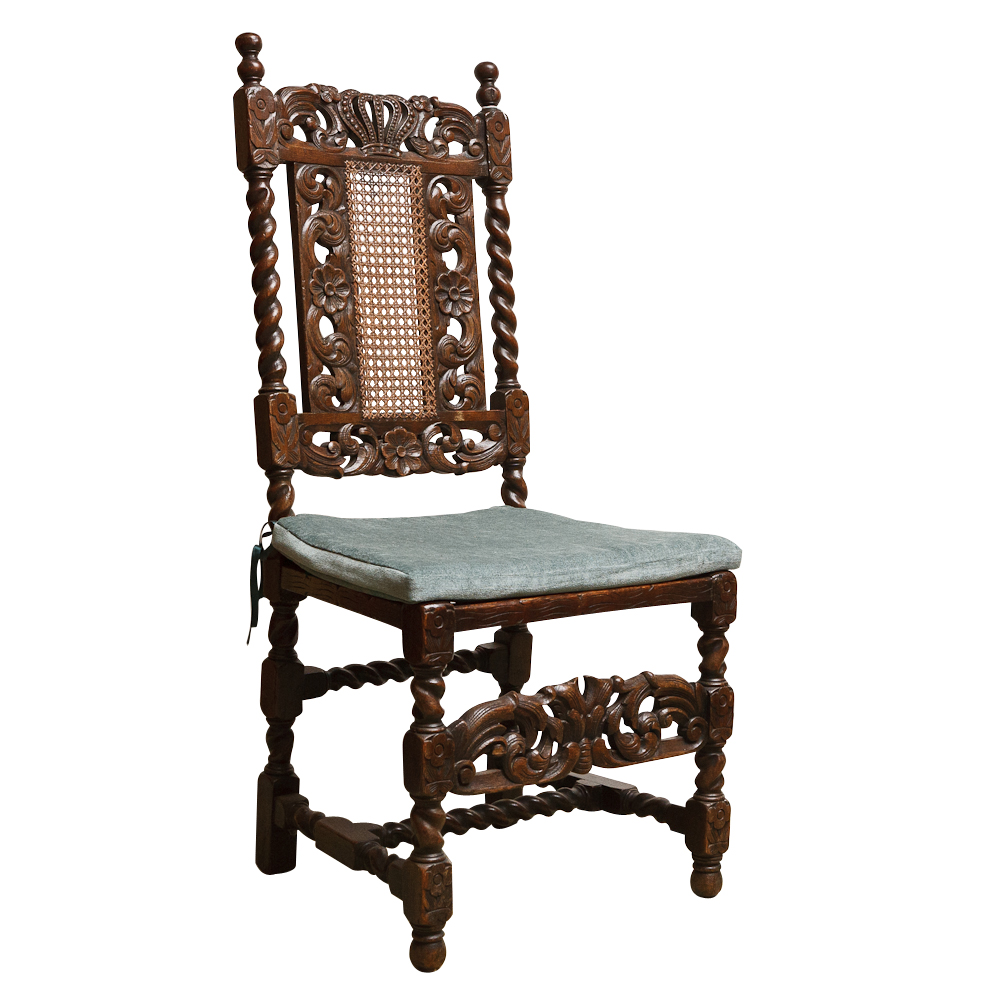 Set Of Six Antique Caned Dining Chairs On Antique Row West Palm Beach F