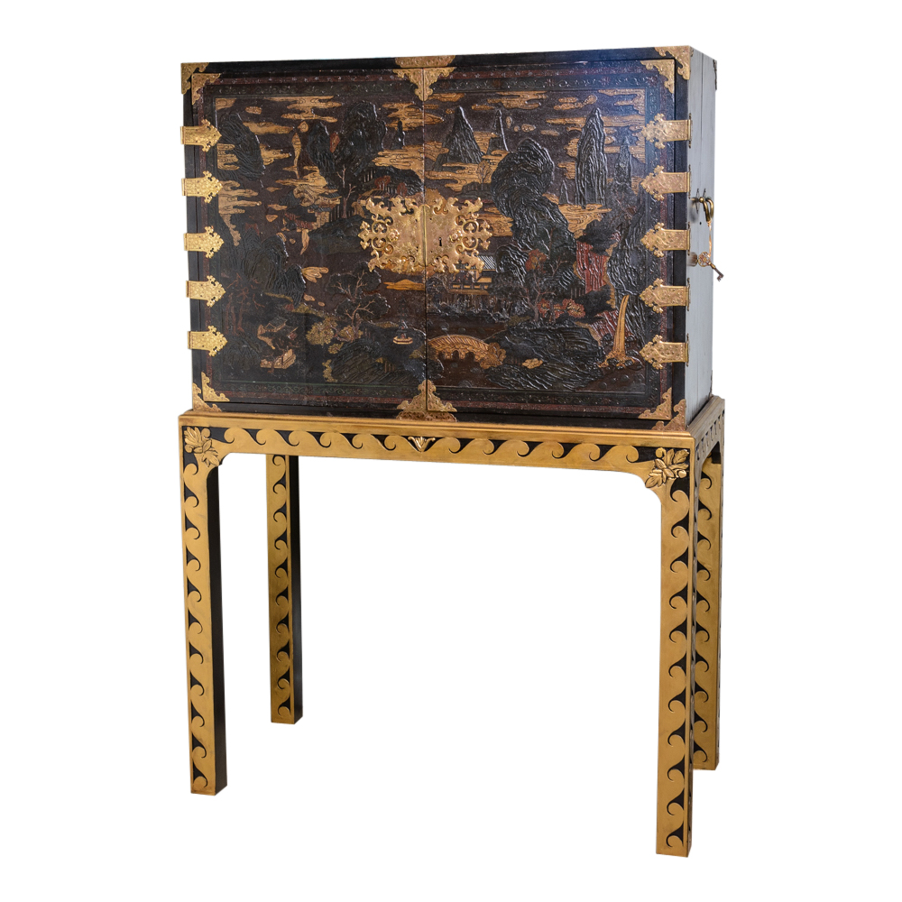 Chinese lacquered cabinet on stand on antique row west for Asian antiques west palm beach
