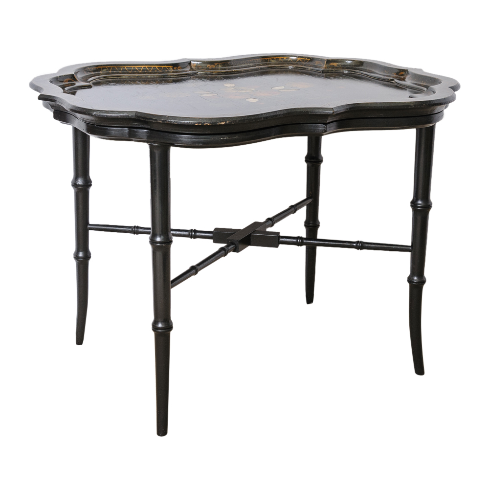 Decoupage tray table on antique row west palm beach for Table 52 west palm beach