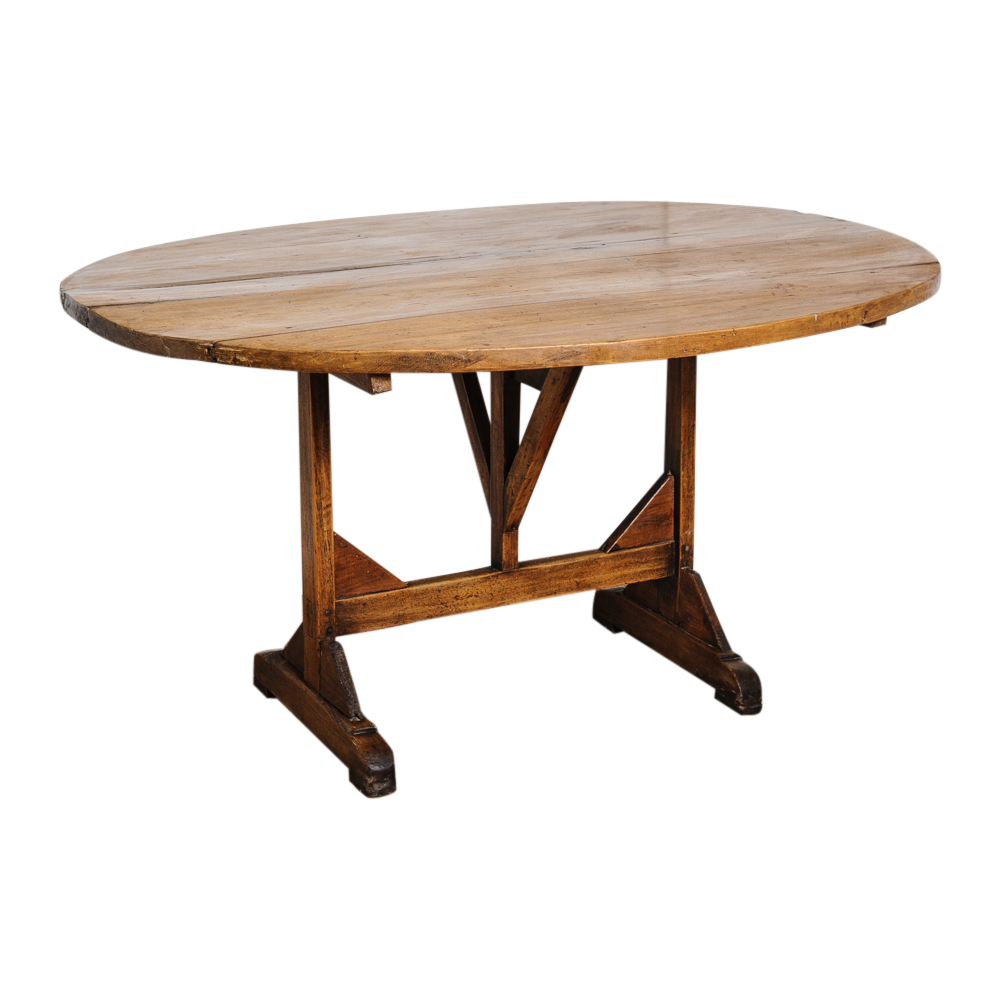 Antique french vitner table on antique row west palm for Table 52 west palm beach