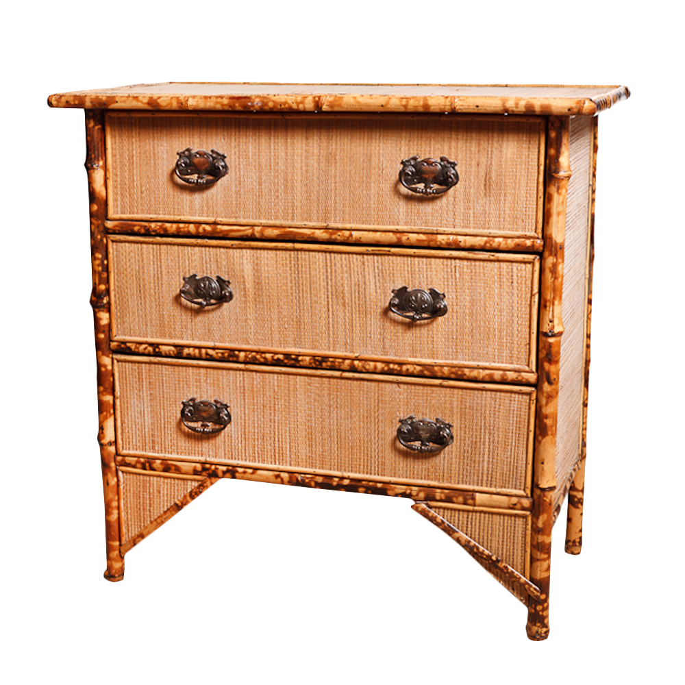 English Antique Bamboo Chest On Antique Row West Palm