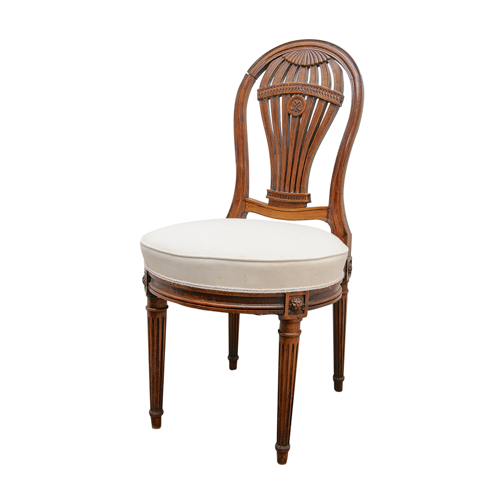 Antique French Balloon Back Chair On Antique Row