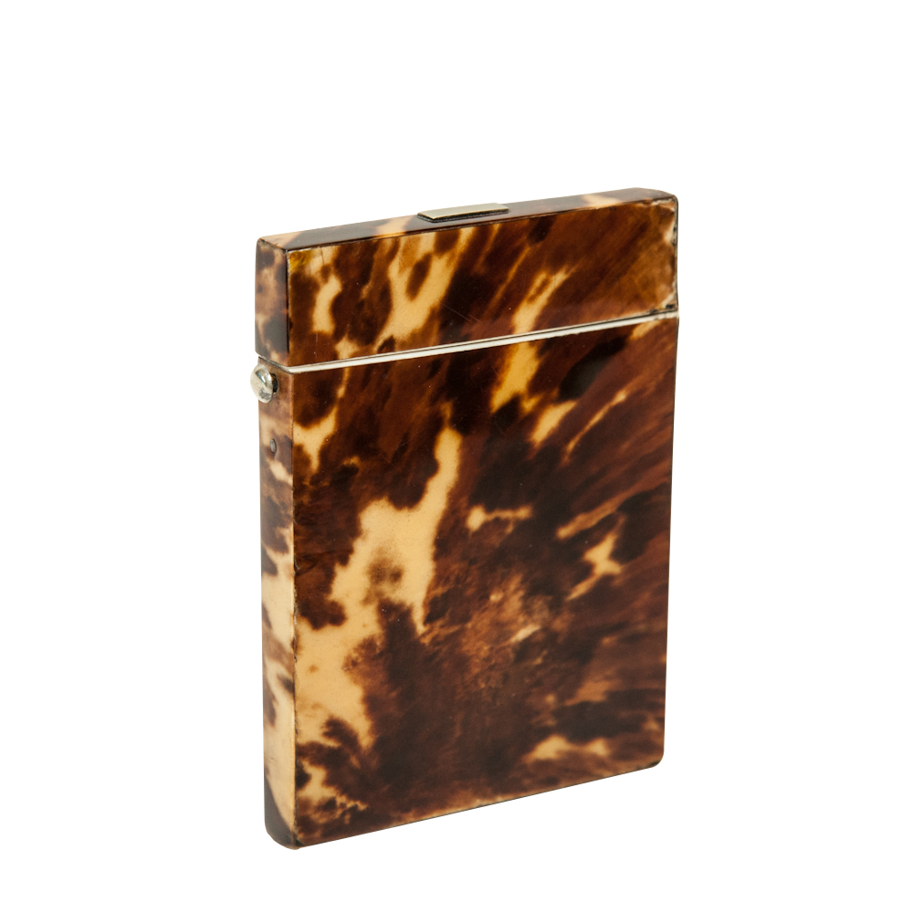 Antique Tortoise Shell Card Case On Antique Row West