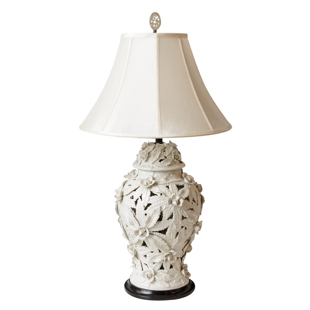 Pair Of White Porcelain Lamps On Antique Row West Palm