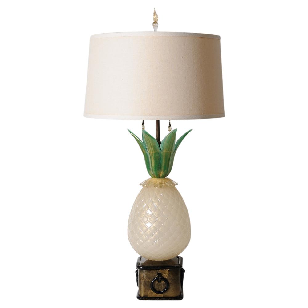 Rare Murano Barovier Art Glass Pineapple Lamp On Antique