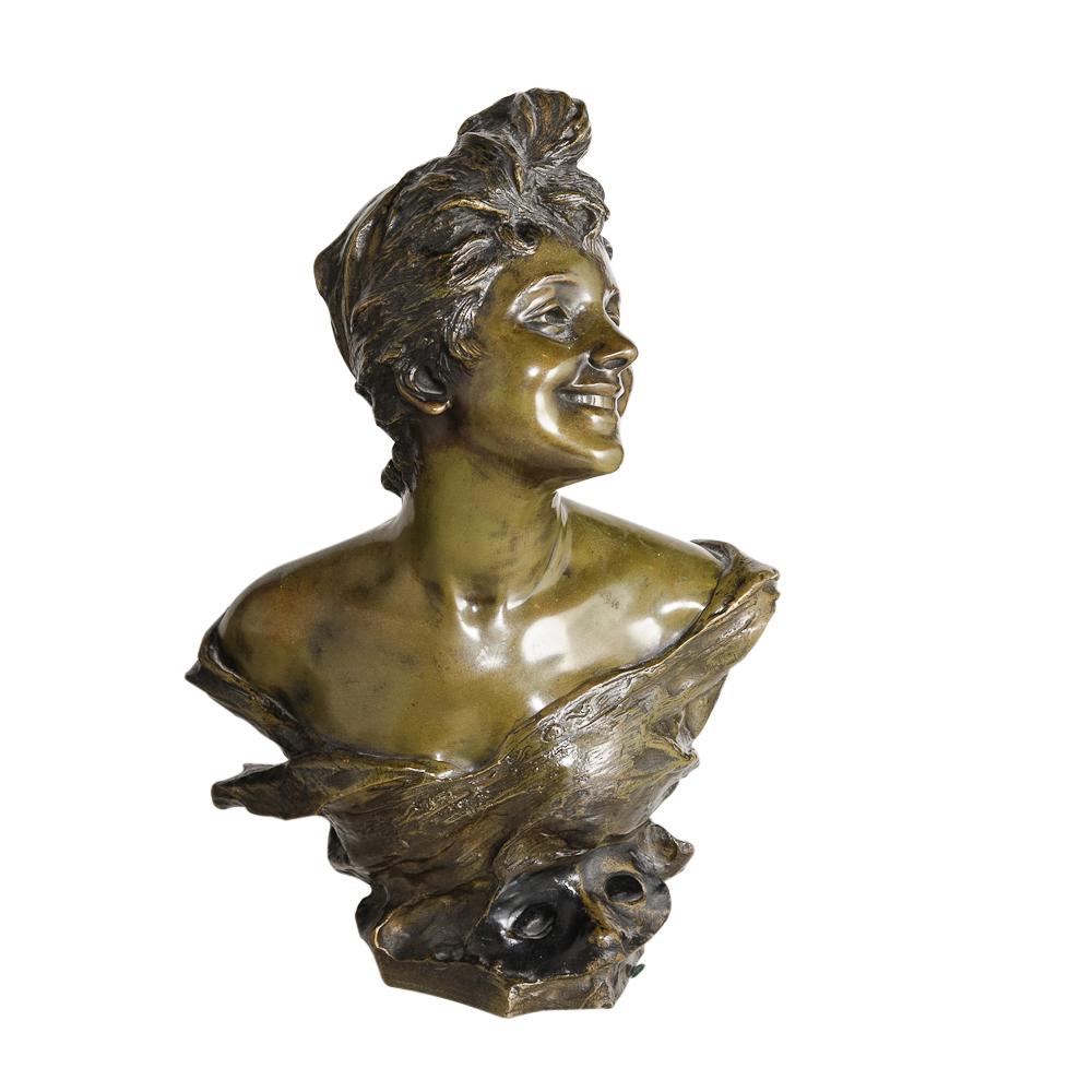 art nouveau artist signed bronze sculpture by vander straeten c1900 on antique row west palm. Black Bedroom Furniture Sets. Home Design Ideas