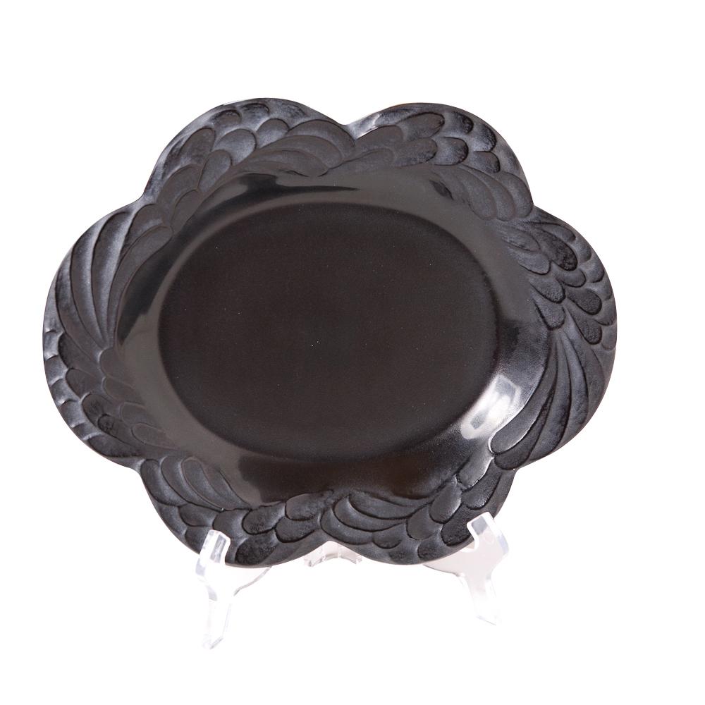 Black Lalique Serving Platter On Antique Row West Palm