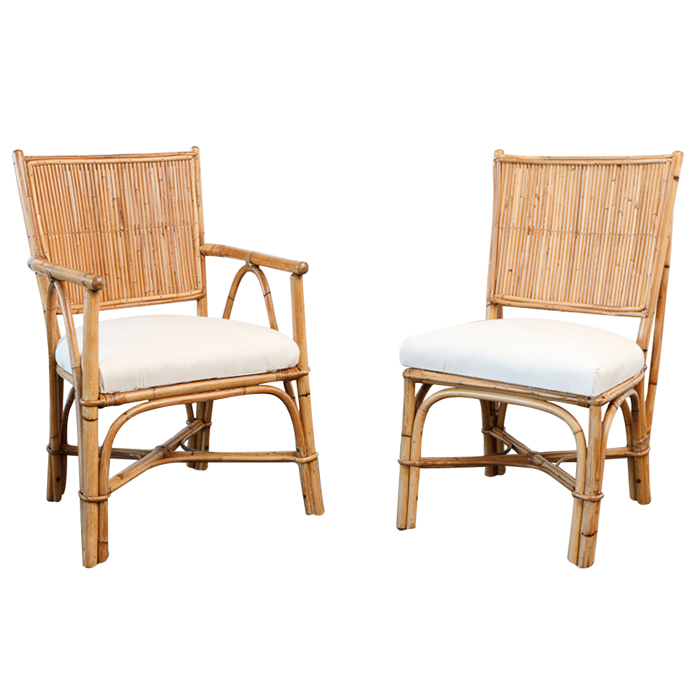 Set Of Vintage Rattan Chairs