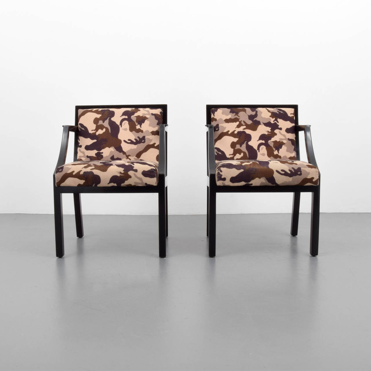 Pair of chairs by edward wormley for dunbar on antique row west palm beach florida - Edward wormley chairs ...