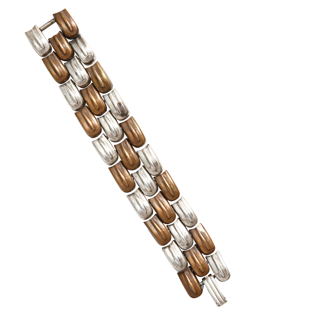 How To Basket Weave Bracelet : William spratling copper and sterling basket weave