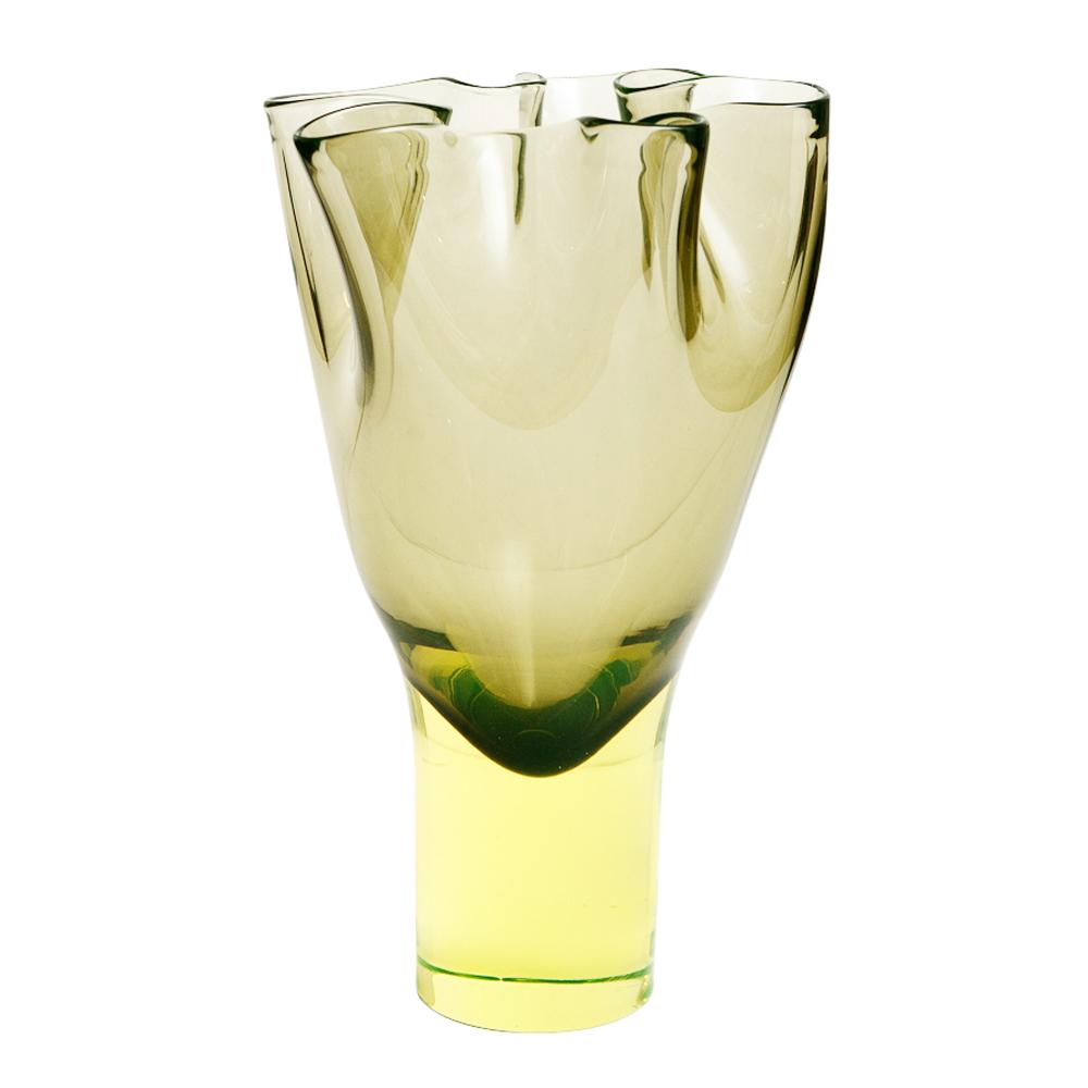 Vintage Italian Glass Vase By Antonio Da Ros For Cenedese