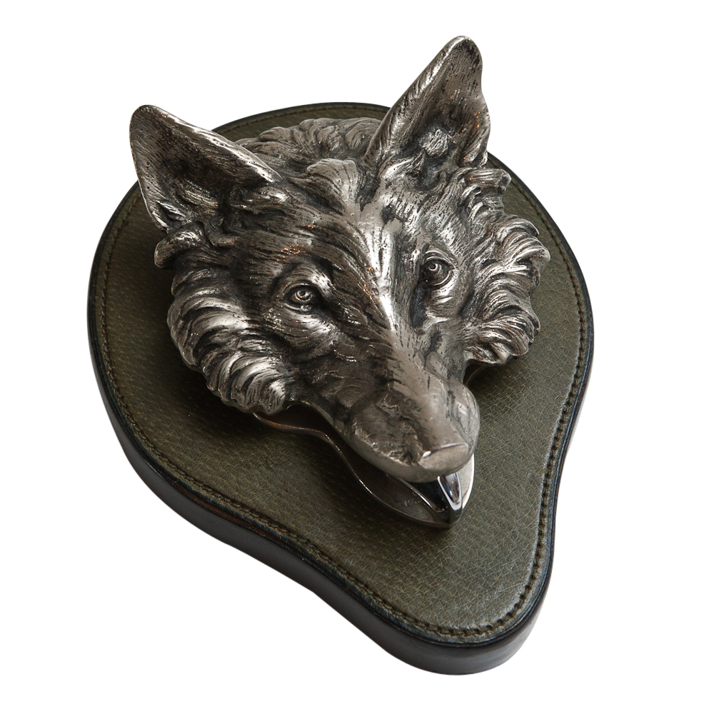 Vintage Gucci Wolf Head Key Chain Holder On Antique Row
