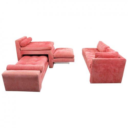 Vladimir Kagan Omnibus Sectional Sofa Set Circa 1970 On