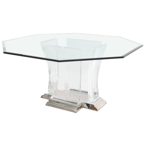 Octagonal Dining Table in Lucite Glass and Polished  : 3890583z11 from www.onantiquerow.com size 500 x 500 jpeg 13kB