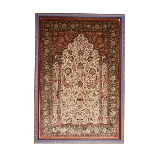 20th Century Turkish Silk Carpet On Antique Row West