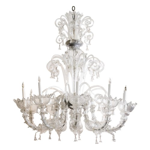 Classic Murano Chandeliers For Luxury Hotel In Florence: Vintage Murano Chandelier : On Antique Row