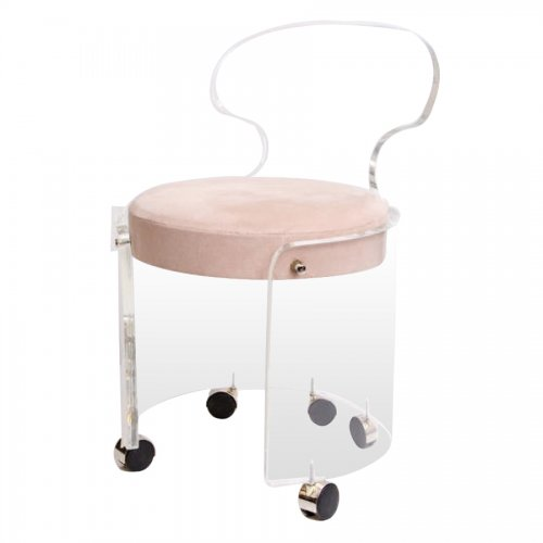 Vintage lucite vanity stool on antique row west palm beach