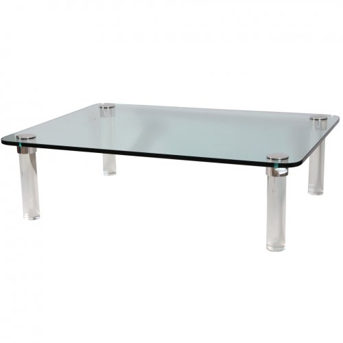 Pace Cocktail Table With Chrome Capped Lucite Legs On Antique Row West Palm Beach Florida