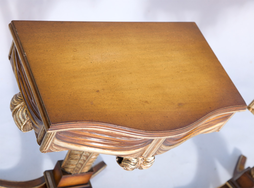 Pair Of Prince Of Wales Plume And Swag End Tables On