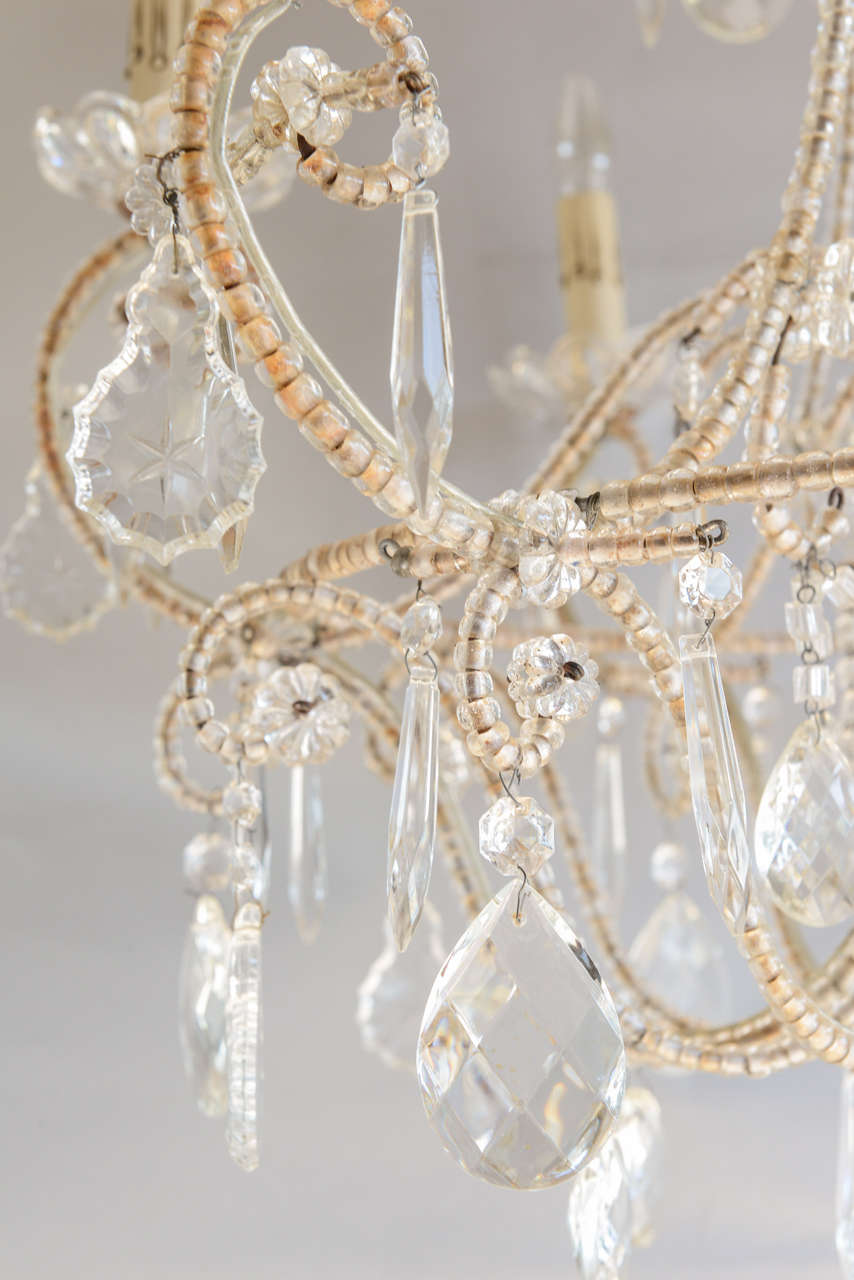 Italian Maria Theresa Beaded Chandelier On Antique Row
