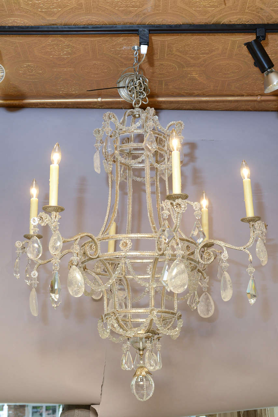 Rock Crystal Chandelier On Antique Row West Palm Beach