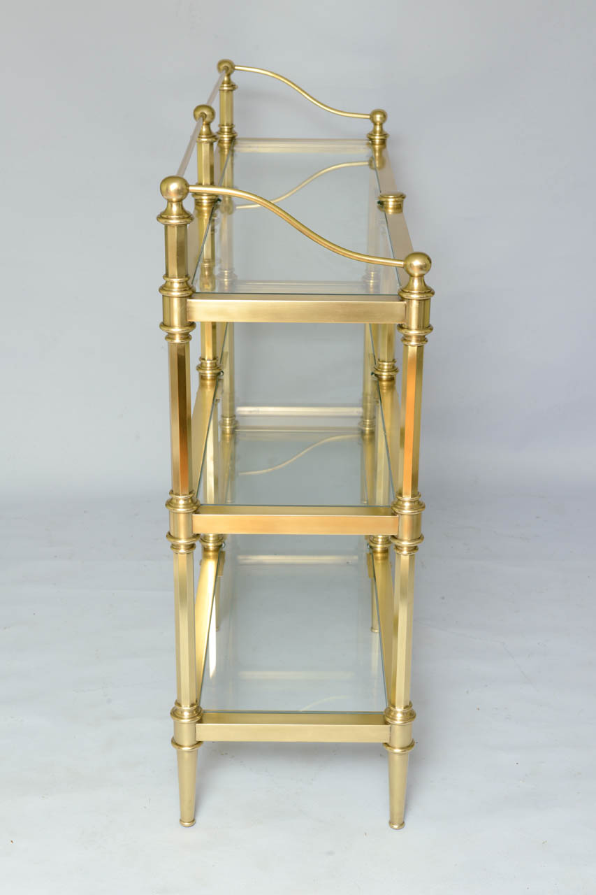 brass etagere on antique row west palm beach florida. Black Bedroom Furniture Sets. Home Design Ideas