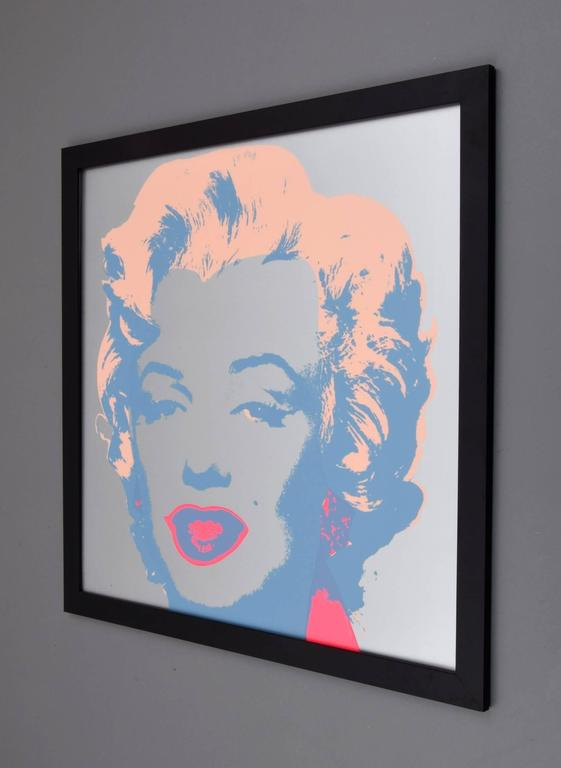 Andy Warhol After Quot Marilyn Quot Silkscreen On Antique