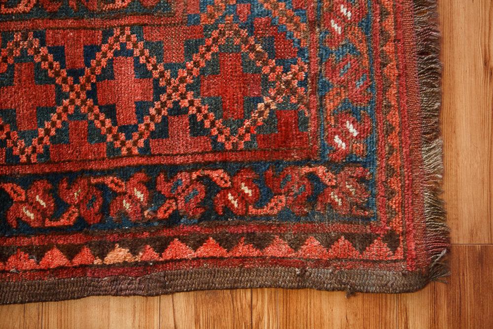 19th Century Turkmen Ersari Carpet On Antique Row West