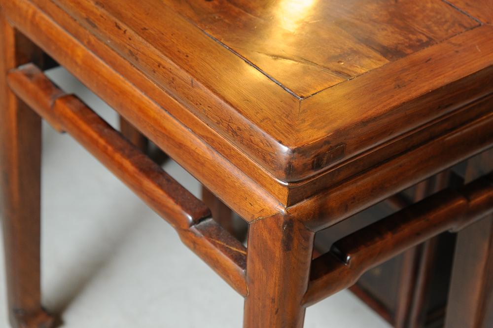 Pair of vintage chinese teak side tables on antique row for Asian antiques west palm beach