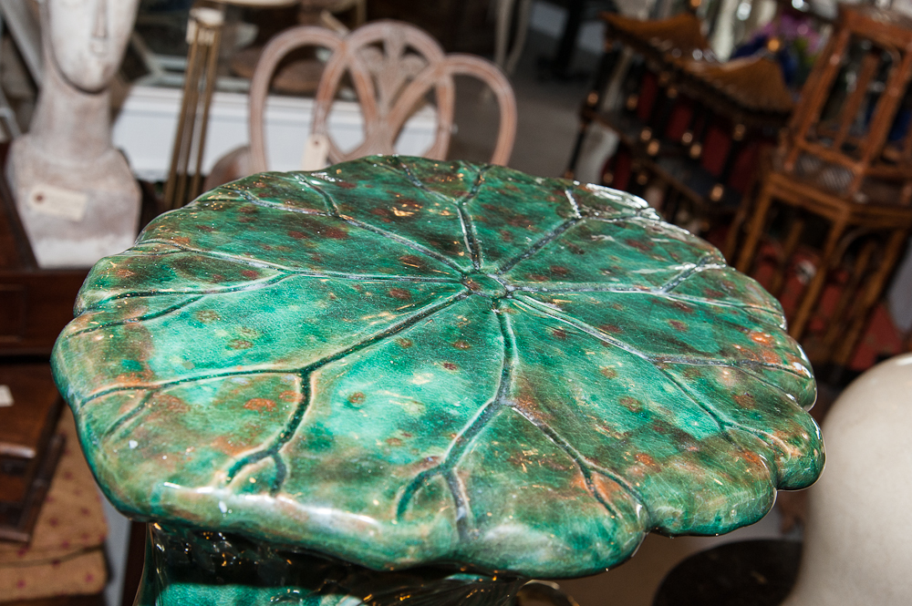 Majolica Frog Garden Seat On Antique Row West Palm
