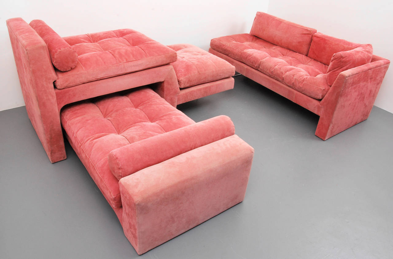 Vladimir Kagan Omnibus Sectional Sofa Set Circa 1970 On