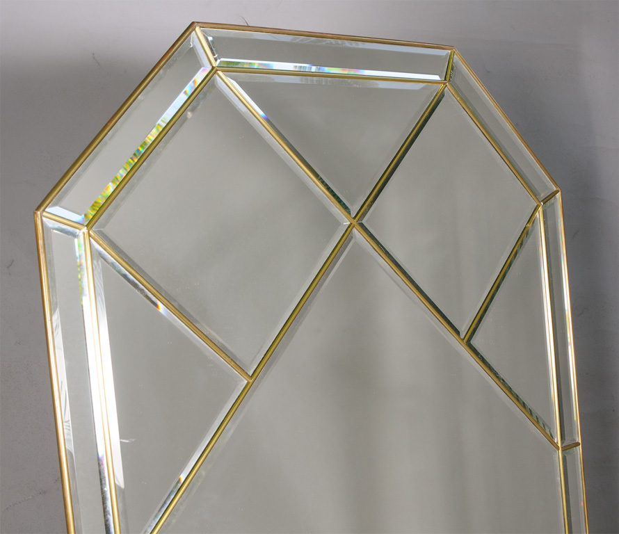 Brass Fretwork Frame Wall Mirror On Antique Row West