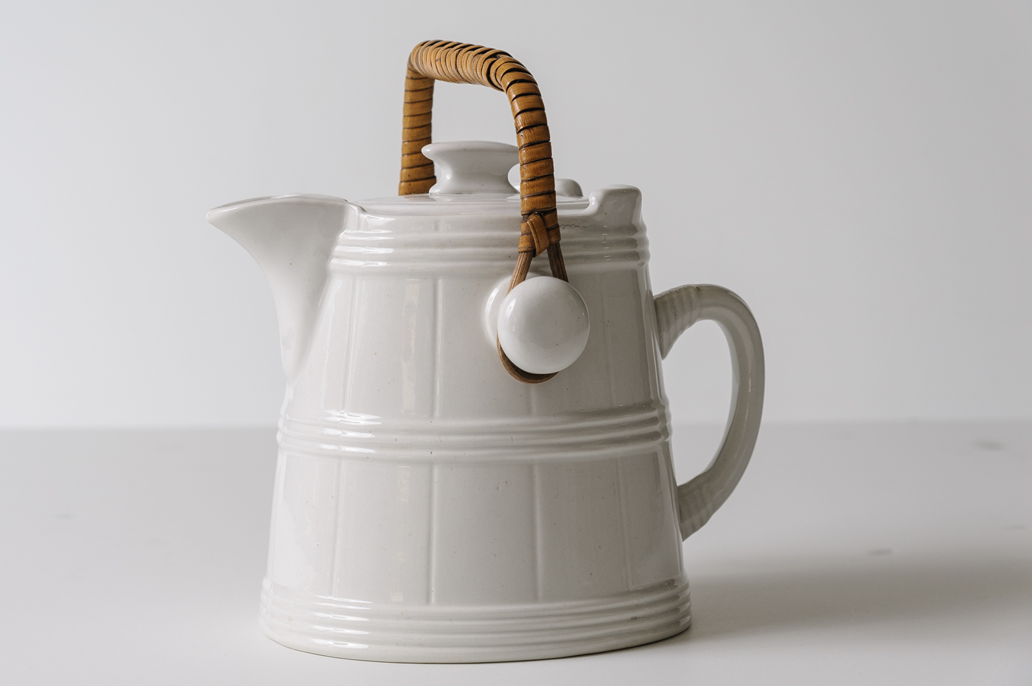 Antique Ironstone Hot Water Pitcher On Antique Row