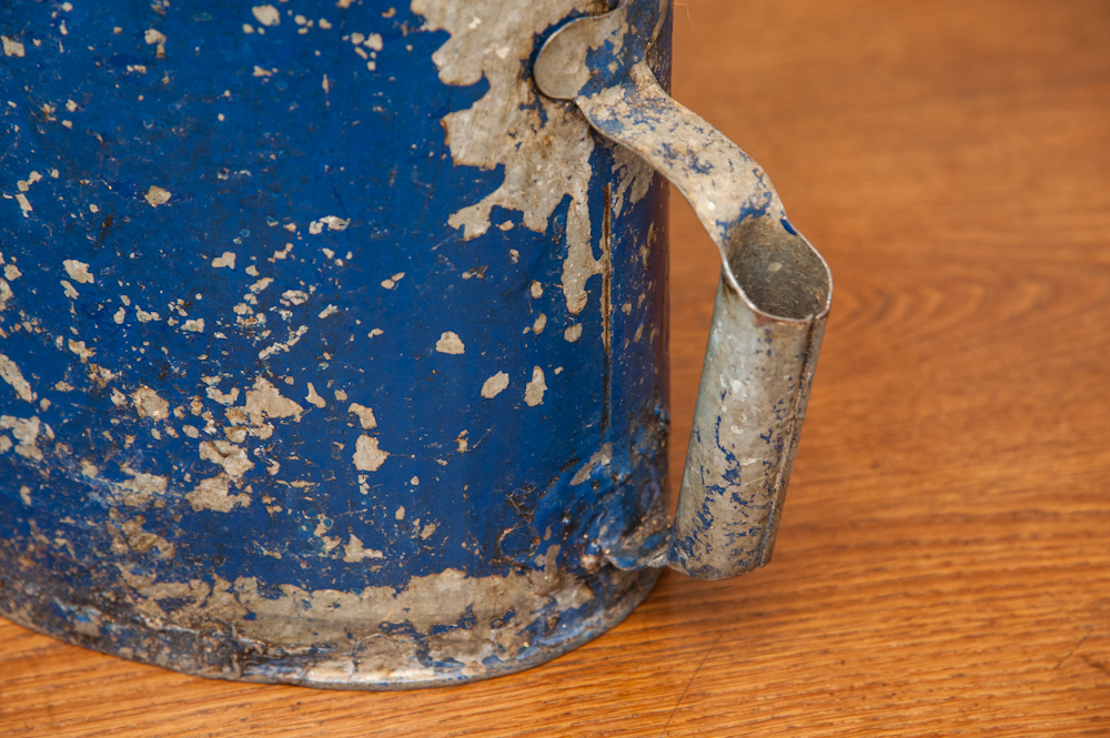 Vintage French Zinc Watering Can On Antique Row West