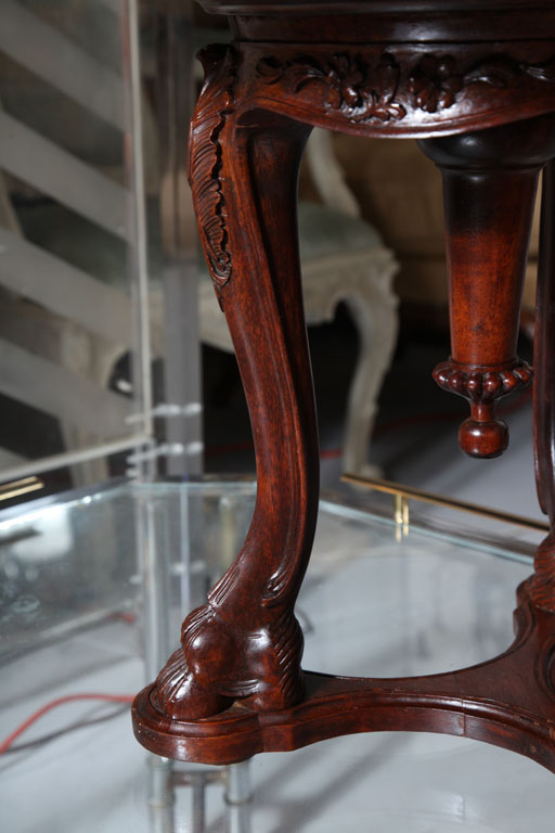 Italian Antique Carved Shell Piano Stool On Antique Row