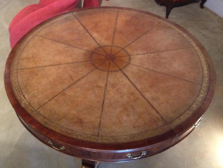 Antique American Empire Center Table On Antique Row