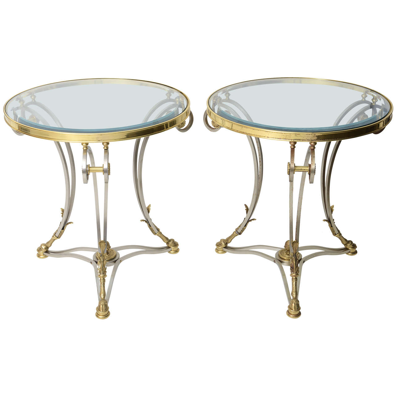 Pair of neo classical style side tables on antique row for Table 52 west palm beach